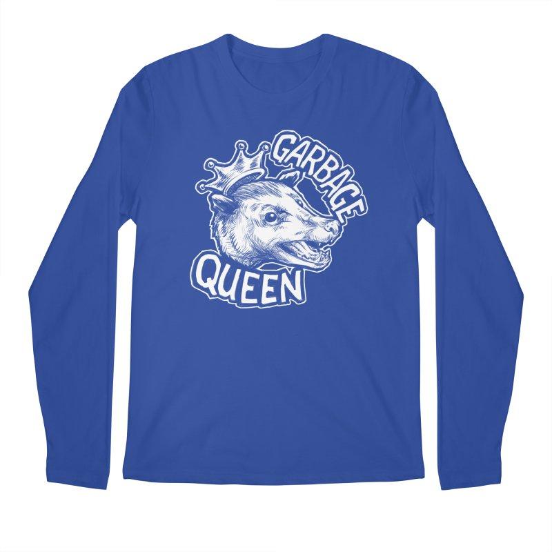 Garbage Queen (White) Men's Regular Longsleeve T-Shirt by Octophant's Artist Shop