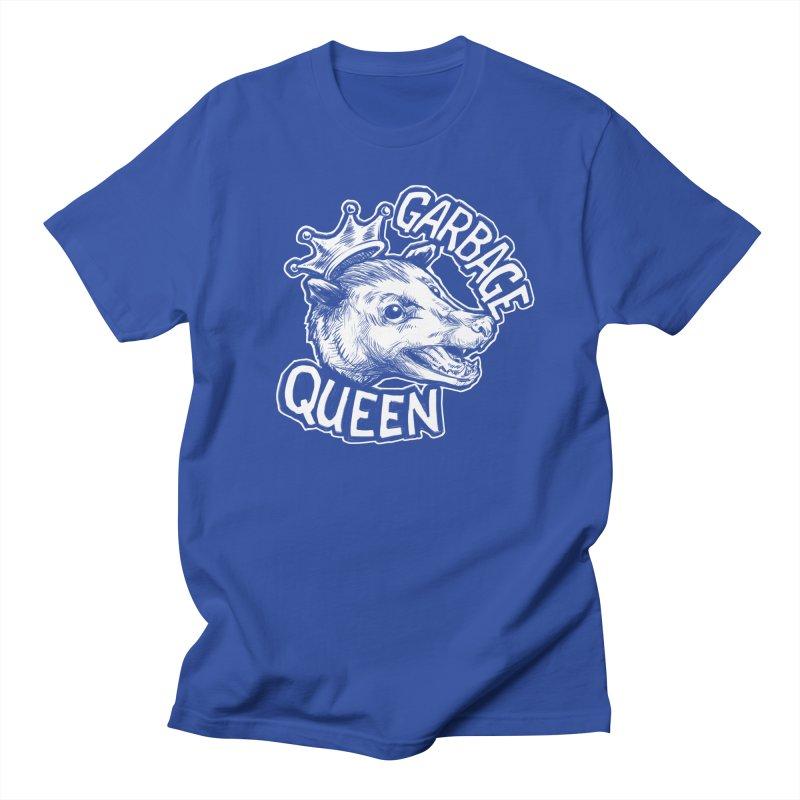 Garbage Queen (White) Men's Regular T-Shirt by Octophant's Artist Shop