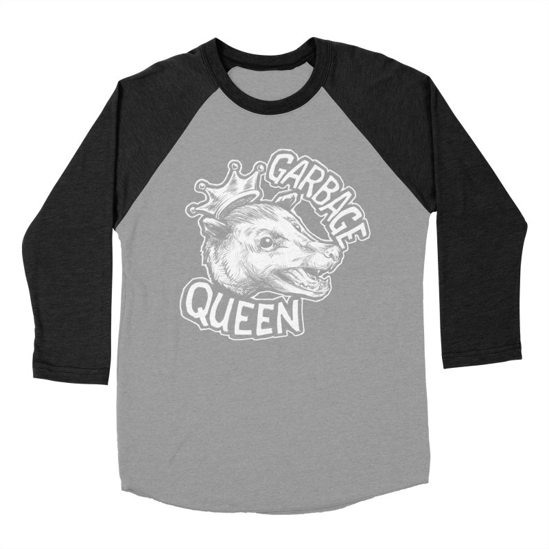 Garbage Queen (White) Women's Baseball Triblend Longsleeve T-Shirt by Octophant's Artist Shop