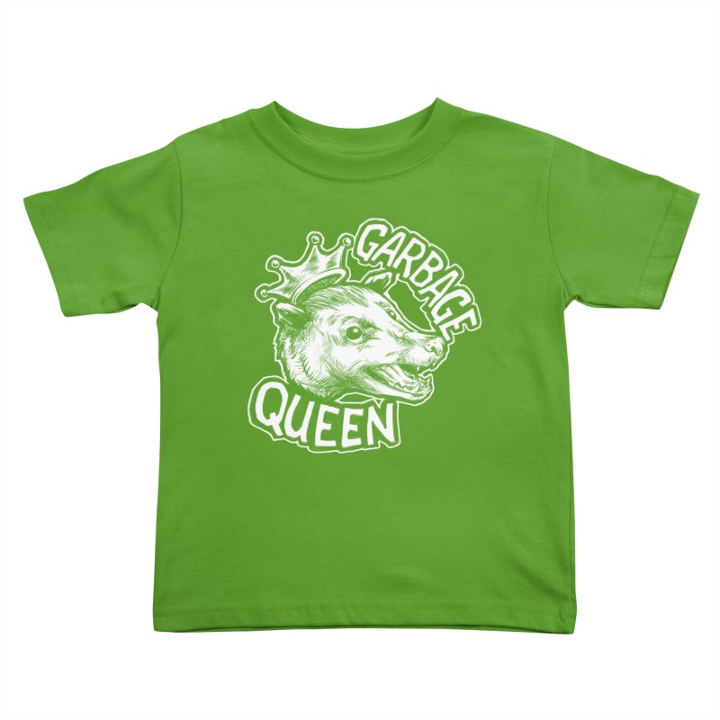 Garbage Queen (White) Kids Toddler T-Shirt by Octophant's Artist Shop