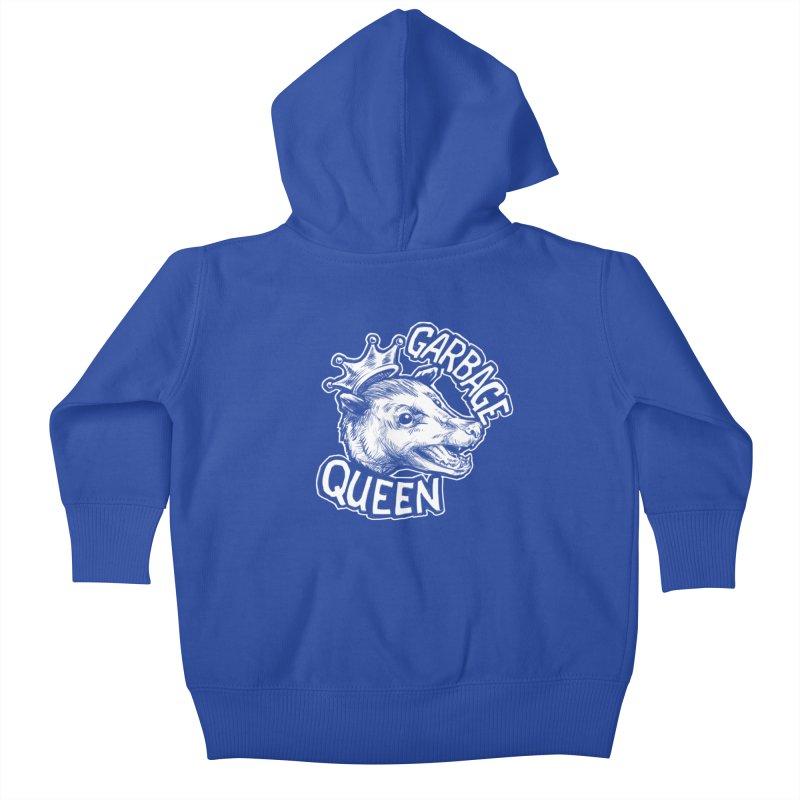 Garbage Queen (White) Kids Baby Zip-Up Hoody by Octophant's Artist Shop