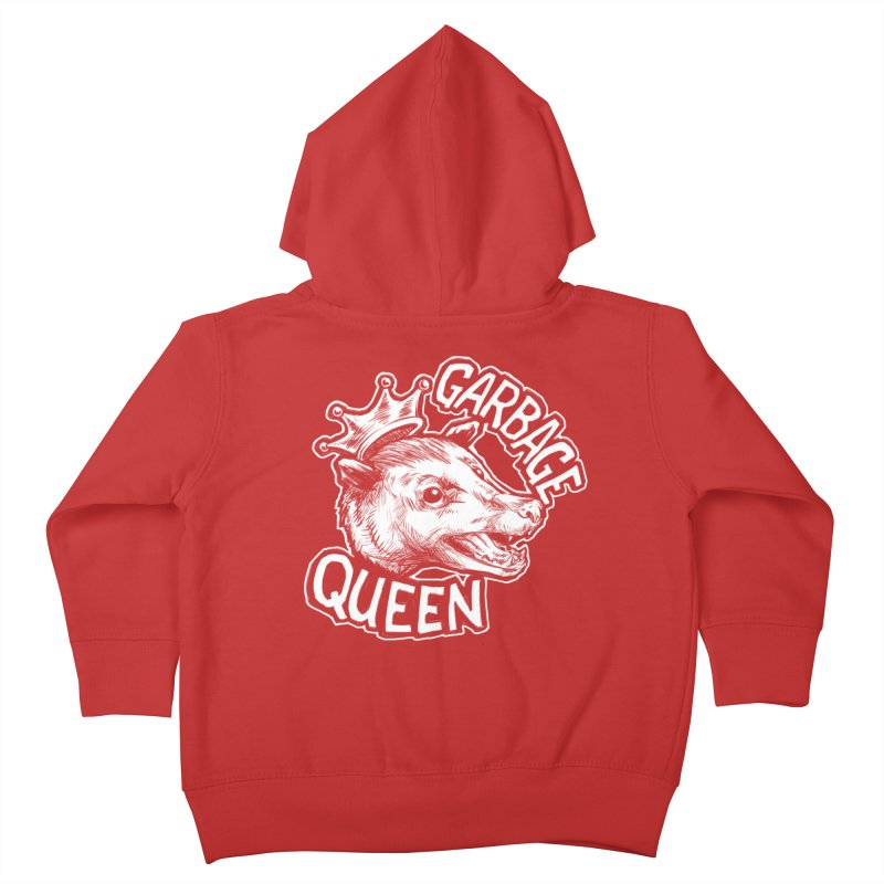 Garbage Queen (White) Kids Toddler Zip-Up Hoody by Octophant's Artist Shop