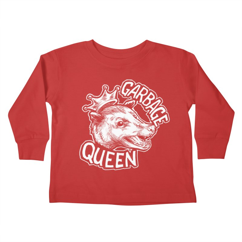 Garbage Queen (White) Kids Toddler Longsleeve T-Shirt by Octophant's Artist Shop