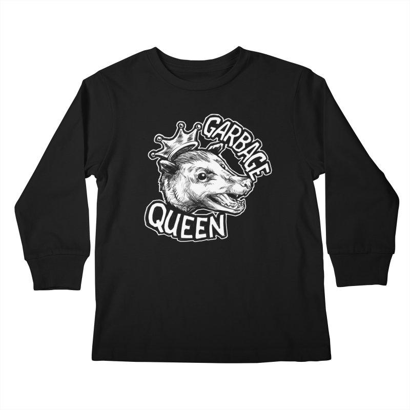 Garbage Queen (White) Kids Longsleeve T-Shirt by Octophant's Artist Shop
