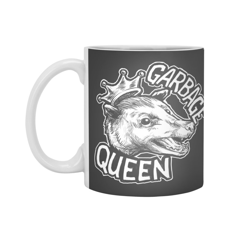 Garbage Queen (White) Accessories Standard Mug by Octophant's Artist Shop