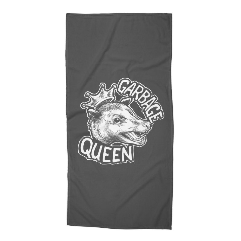 Garbage Queen (White) Accessories Beach Towel by Octophant's Artist Shop