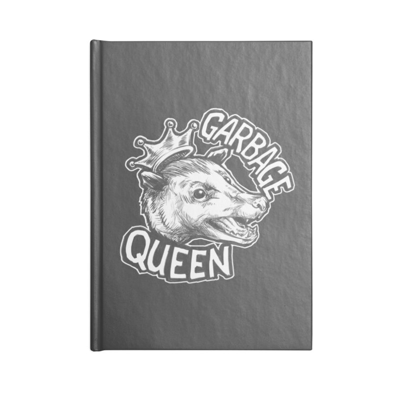 Garbage Queen (White) Accessories Notebook by Octophant's Artist Shop