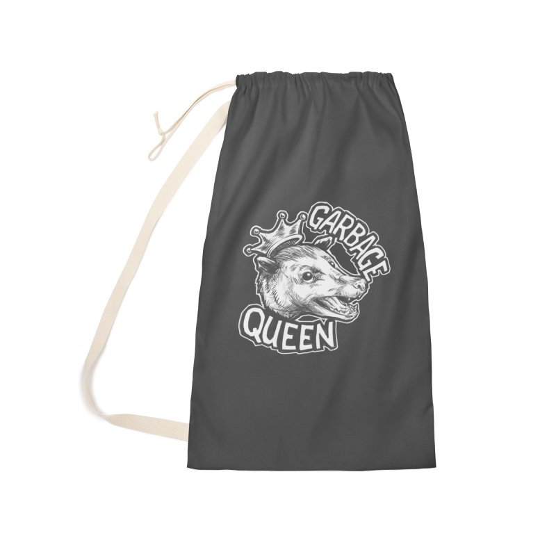Garbage Queen (White) Accessories Laundry Bag Bag by Octophant's Artist Shop