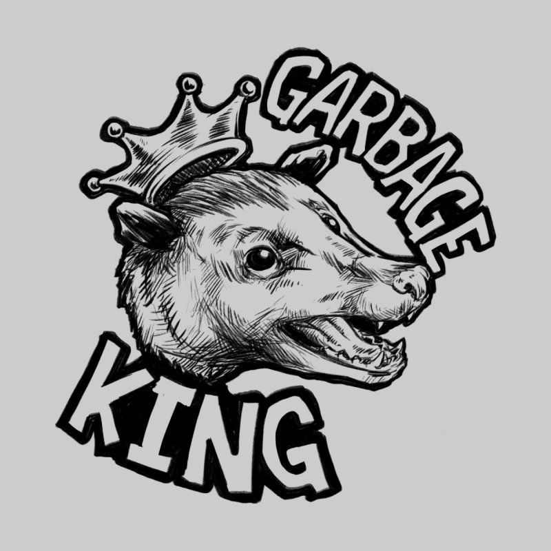 Garbage King (Black) Women's Zip-Up Hoody by Octophant's Artist Shop