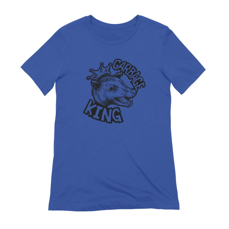 Garbage King (Black) Women's Extra Soft T-Shirt by Octophant's Artist Shop