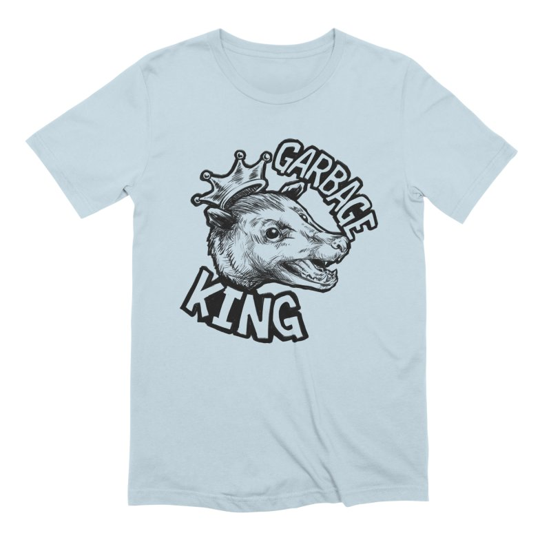 Garbage King (Black) Men's Extra Soft T-Shirt by Octophant's Artist Shop