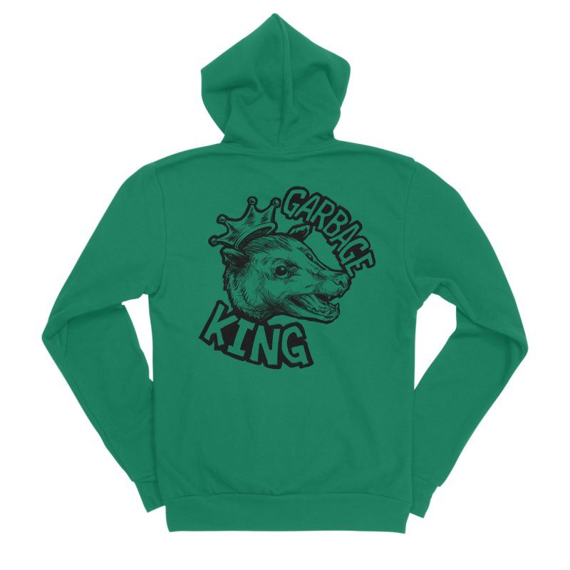 Garbage King (Black) Women's Sponge Fleece Zip-Up Hoody by Octophant's Artist Shop