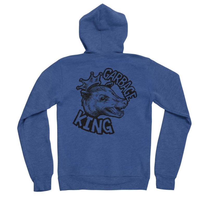 Garbage King (Black) Men's Sponge Fleece Zip-Up Hoody by Octophant's Artist Shop