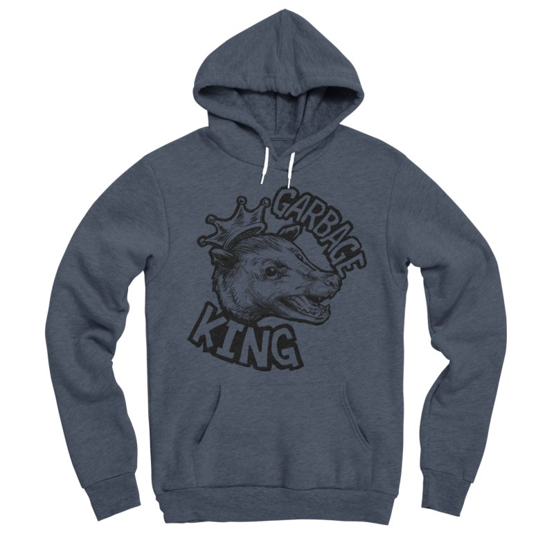 Garbage King (Black) Men's Sponge Fleece Pullover Hoody by Octophant's Artist Shop