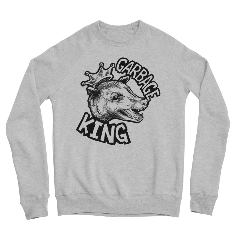 Garbage King (Black) Women's Sponge Fleece Sweatshirt by Octophant's Artist Shop