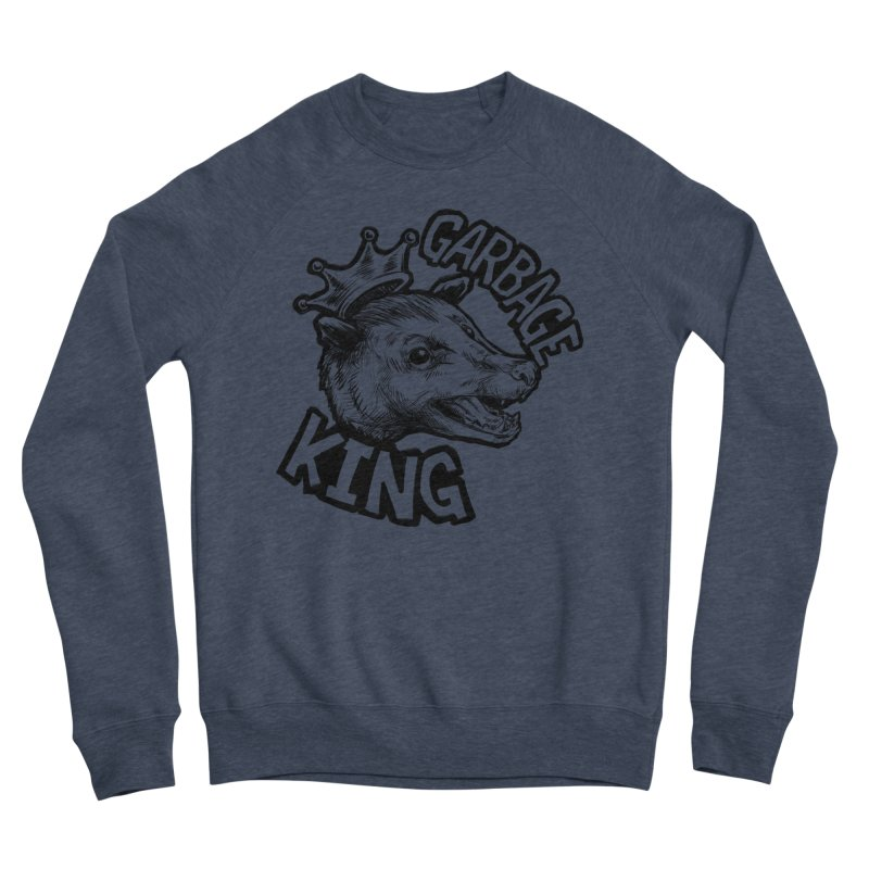 Garbage King (Black) Men's Sponge Fleece Sweatshirt by Octophant's Artist Shop