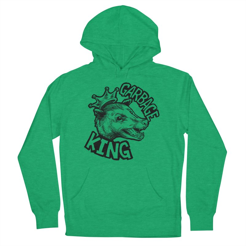Garbage King (Black) Women's French Terry Pullover Hoody by Octophant's Artist Shop