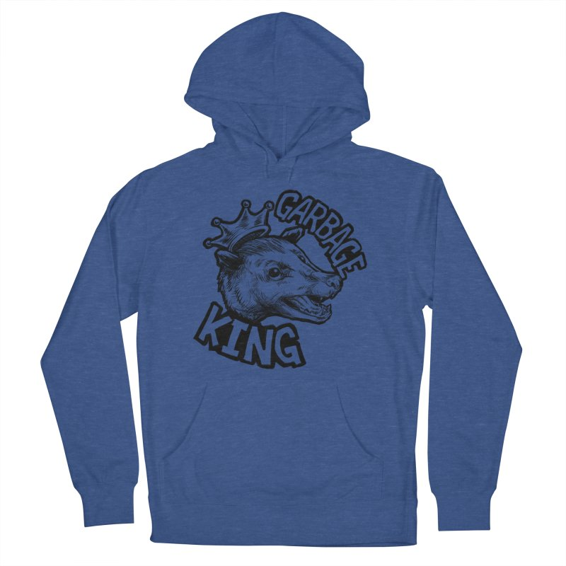 Garbage King (Black) Men's French Terry Pullover Hoody by Octophant's Artist Shop