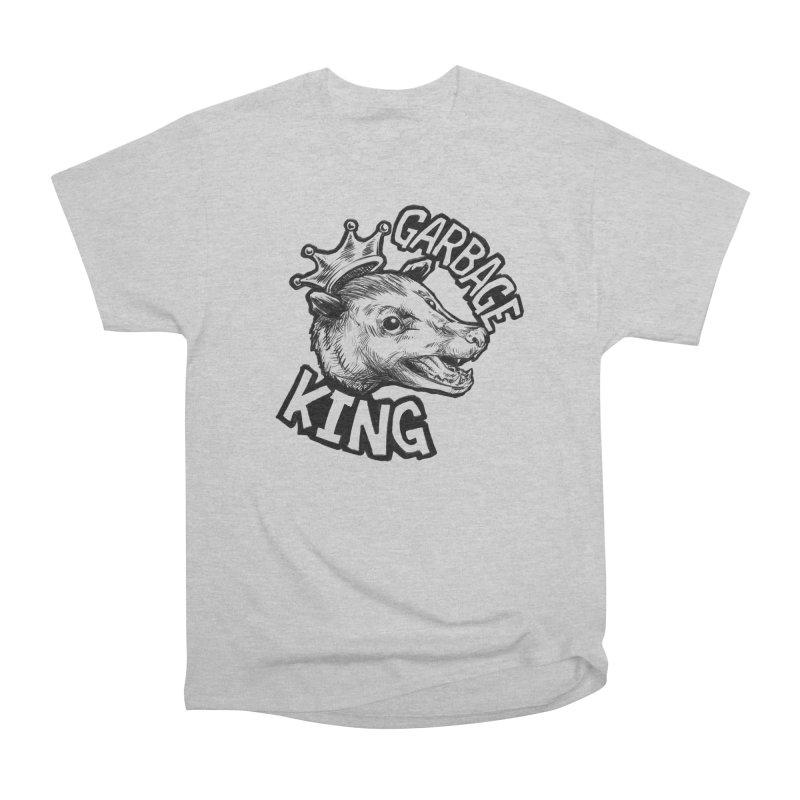 Garbage King (Black) Men's Heavyweight T-Shirt by Octophant's Artist Shop