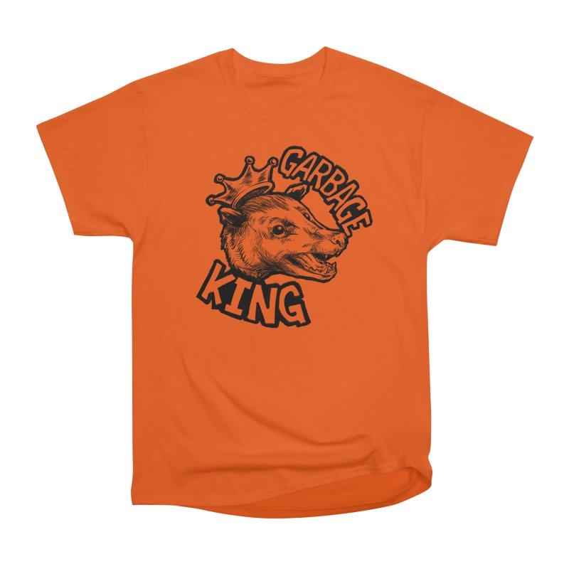 Garbage King (Black) Women's Heavyweight Unisex T-Shirt by Octophant's Artist Shop