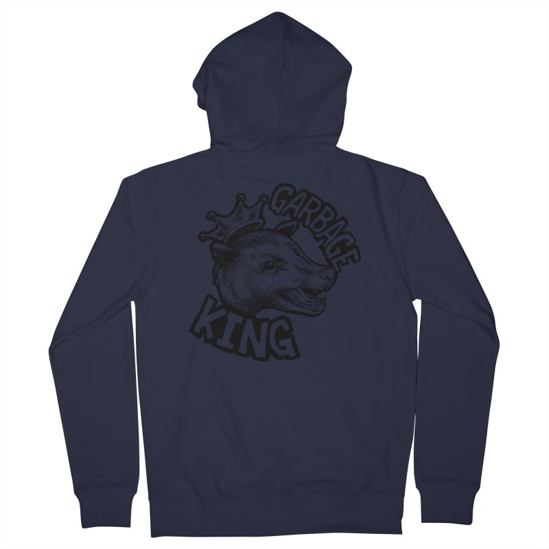 Garbage King (Black) Women's French Terry Zip-Up Hoody by Octophant's Artist Shop