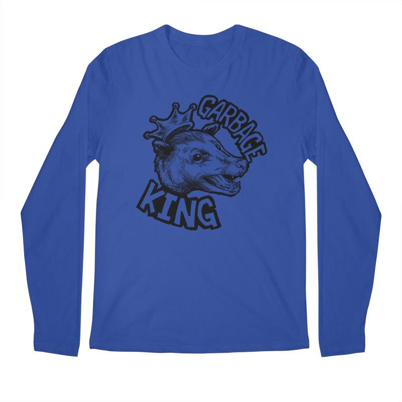 Garbage King (Black) Men's Regular Longsleeve T-Shirt by Octophant's Artist Shop