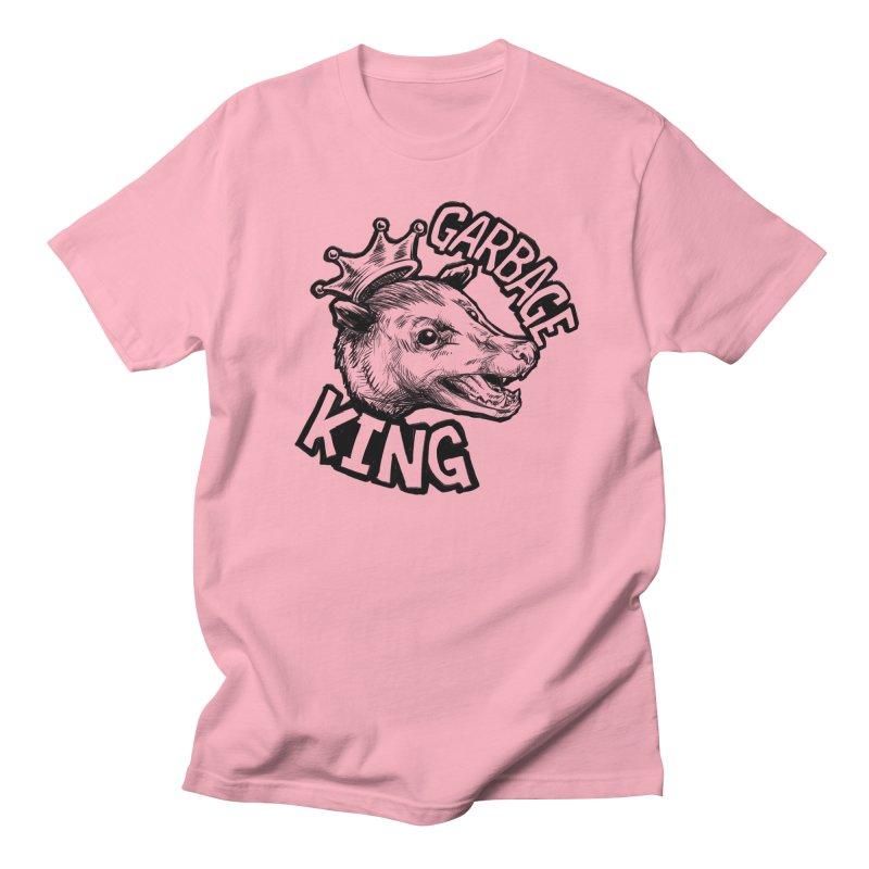 Garbage King (Black) Men's Regular T-Shirt by Octophant's Artist Shop