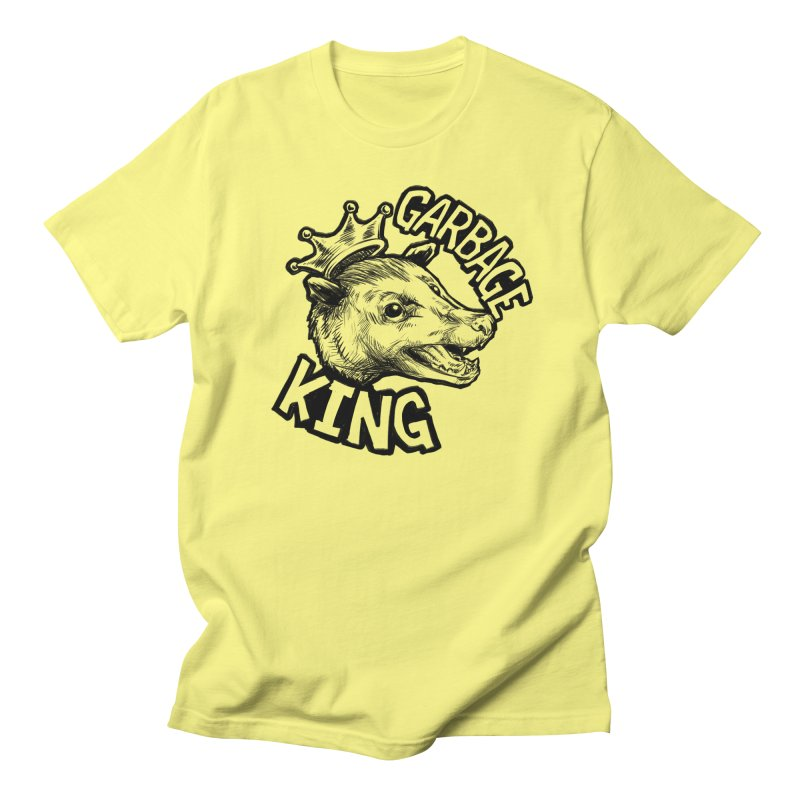 Garbage King (Black) Women's Regular Unisex T-Shirt by Octophant's Artist Shop
