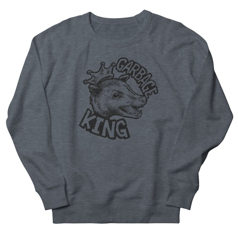 Garbage King (Black) Men's French Terry Sweatshirt by Octophant's Artist Shop