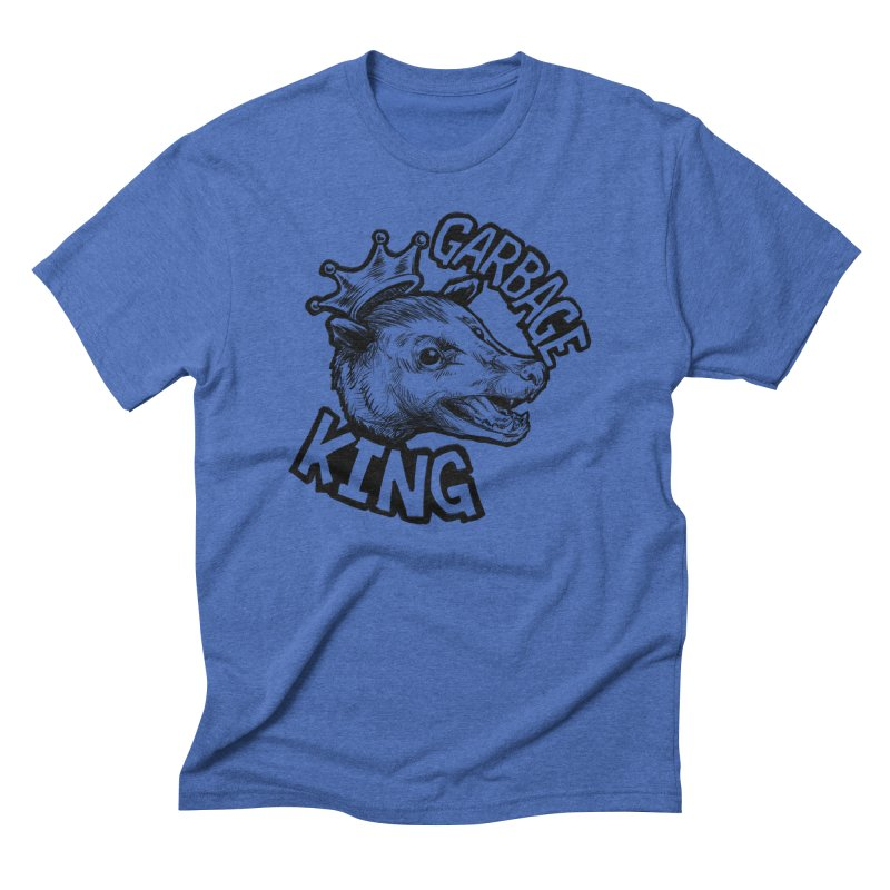 Garbage King (Black) Men's Triblend T-Shirt by Octophant's Artist Shop