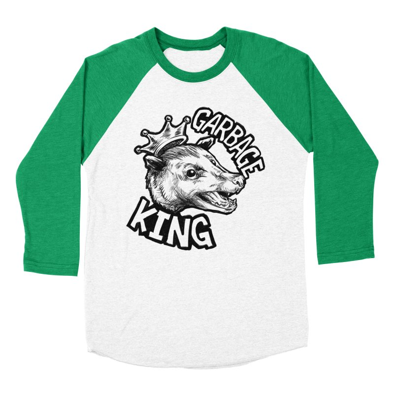 Garbage King (Black) Women's Baseball Triblend Longsleeve T-Shirt by Octophant's Artist Shop