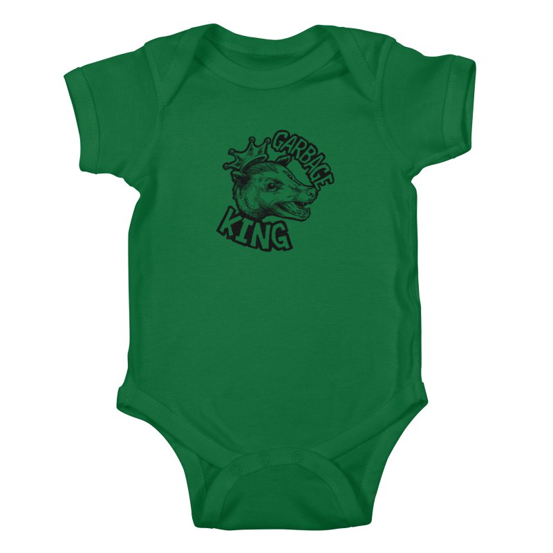 Garbage King (Black) Kids Baby Bodysuit by Octophant's Artist Shop