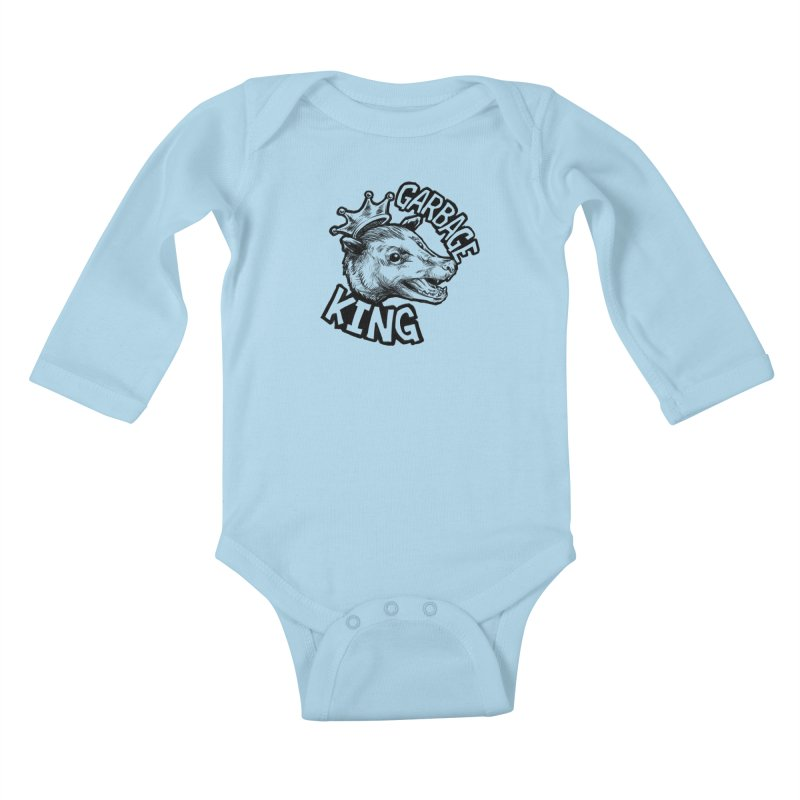 Garbage King (Black) Kids Baby Longsleeve Bodysuit by Octophant's Artist Shop