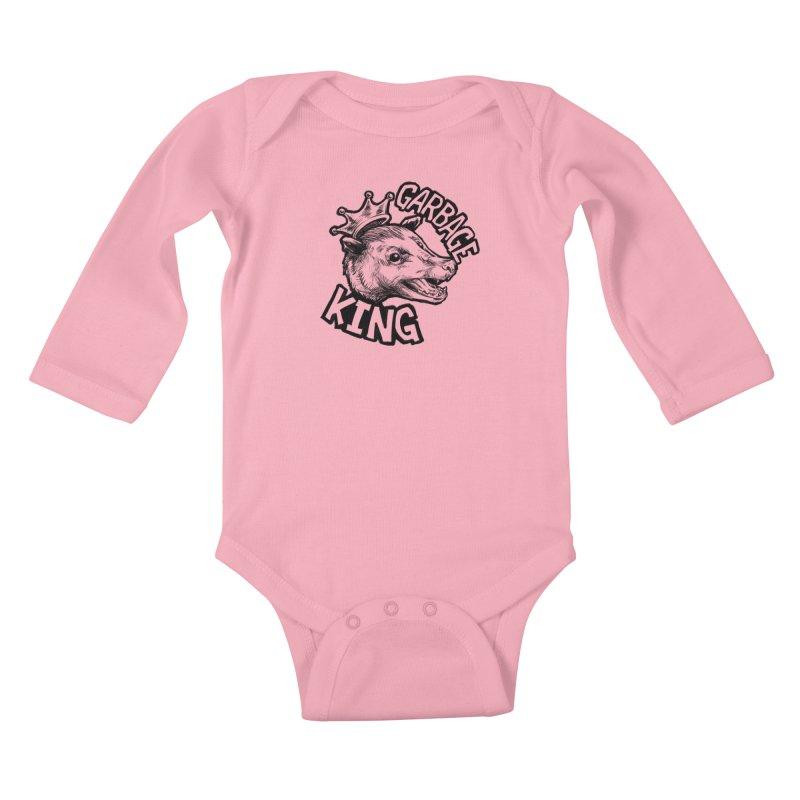 Garbage King (Black) Kids Baby Longsleeve Bodysuit by Octophant's Artist Shop