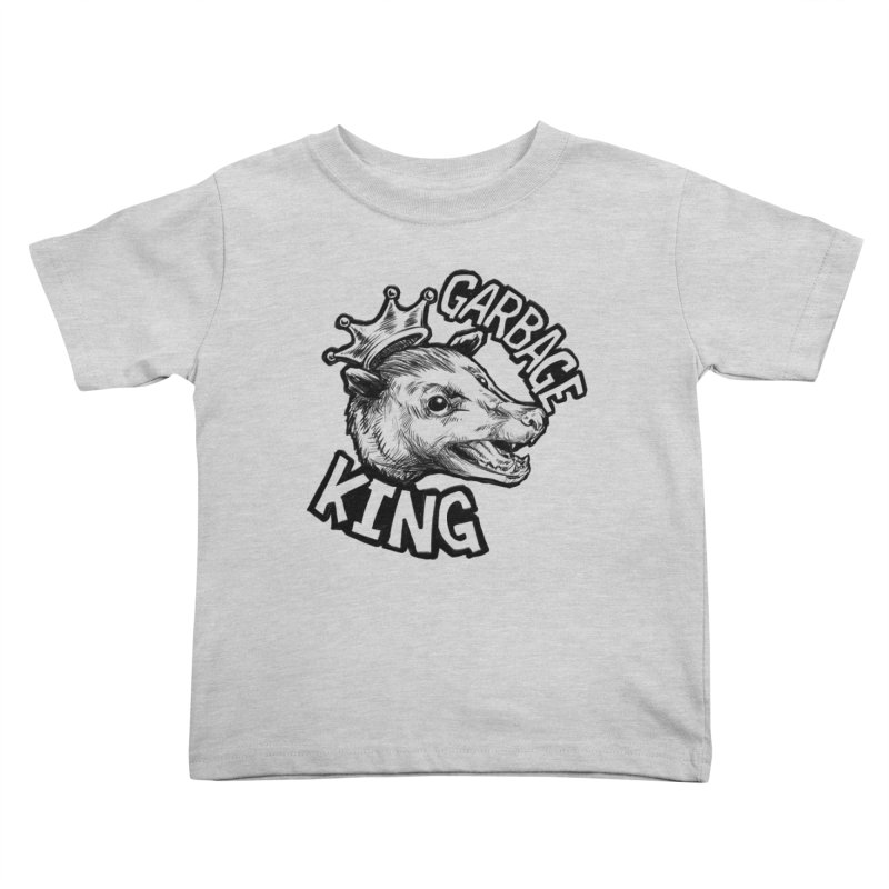 Garbage King (Black) Kids Toddler T-Shirt by Octophant's Artist Shop