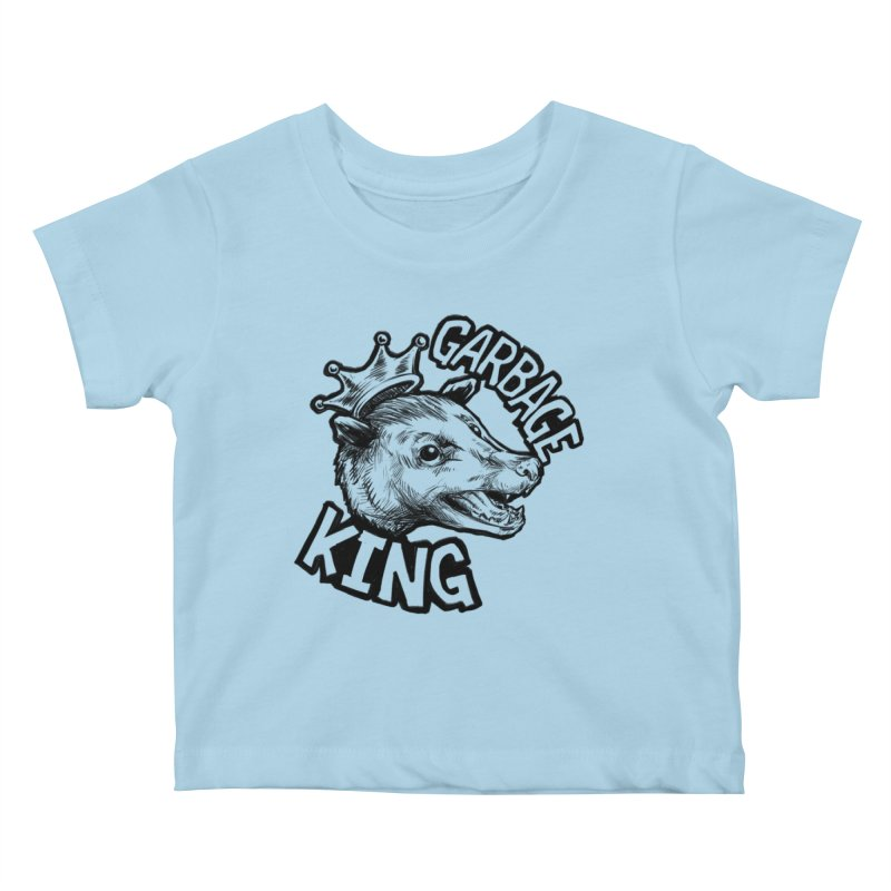 Garbage King (Black) Kids Baby T-Shirt by Octophant's Artist Shop