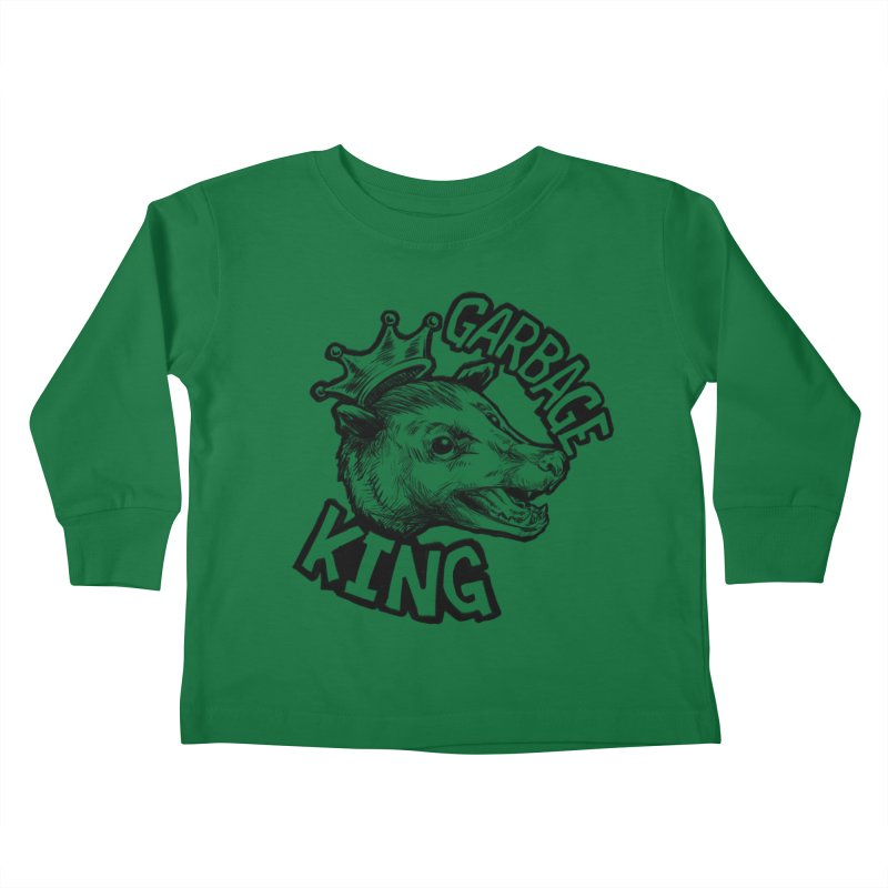 Garbage King (Black) Kids Toddler Longsleeve T-Shirt by Octophant's Artist Shop