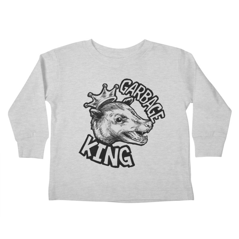 Garbage King (Black) Kids Toddler Longsleeve T-Shirt by Octophant's Artist Shop