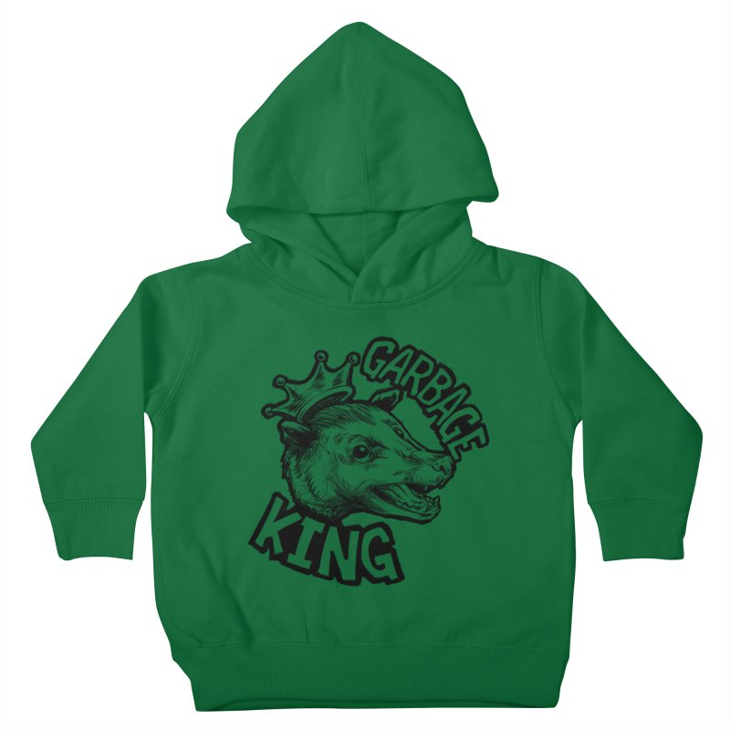 Garbage King (Black) Kids Toddler Pullover Hoody by Octophant's Artist Shop