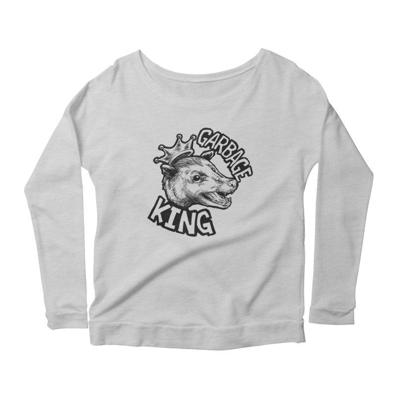 Garbage King (Black) Women's Scoop Neck Longsleeve T-Shirt by Octophant's Artist Shop