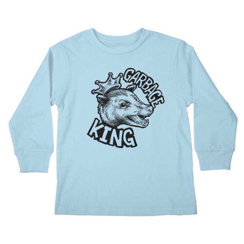 Garbage King (Black) Kids Longsleeve T-Shirt by Octophant's Artist Shop