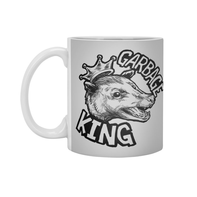 Garbage King (Black) Accessories Standard Mug by Octophant's Artist Shop