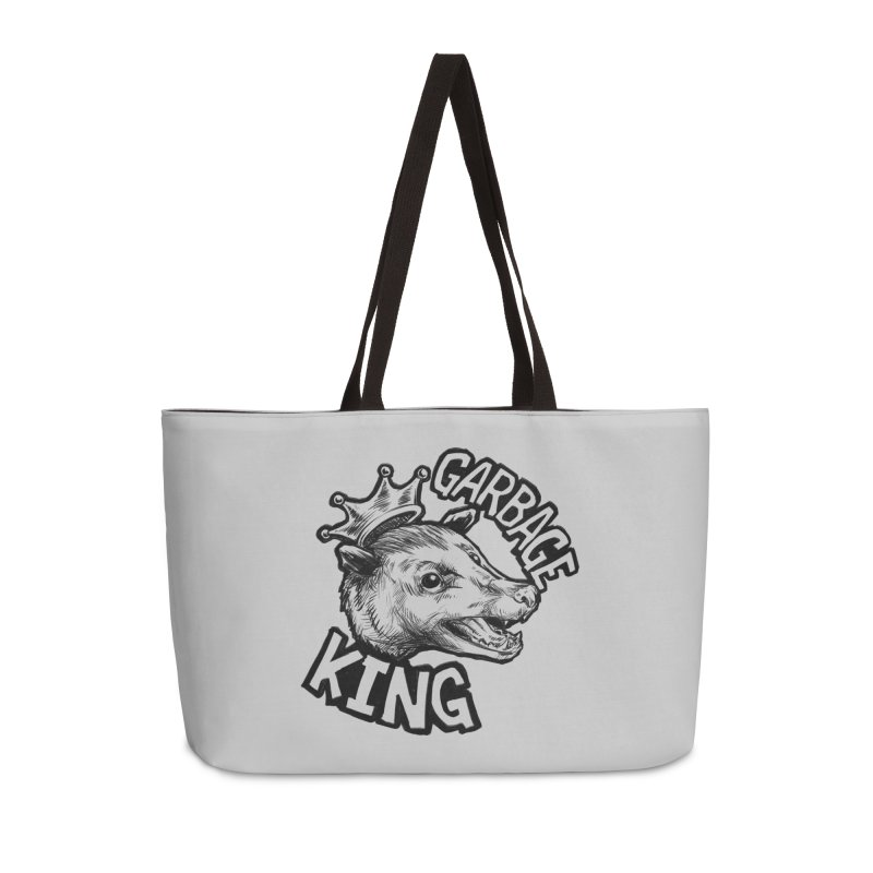 Garbage King (Black) Accessories Weekender Bag Bag by Octophant's Artist Shop