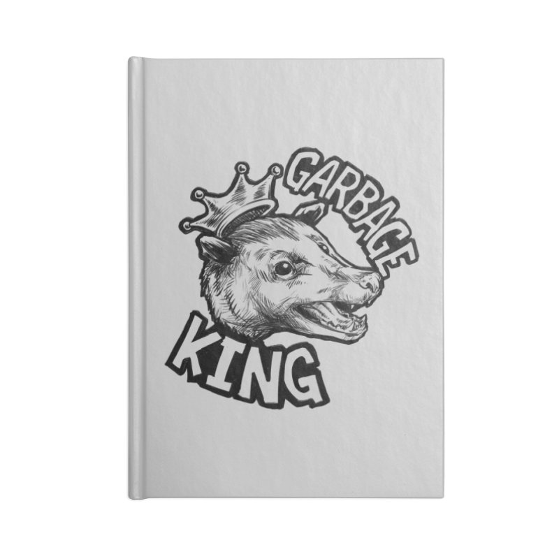 Garbage King (Black) Accessories Notebook by Octophant's Artist Shop