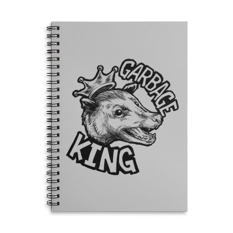 Garbage King (Black) Accessories Lined Spiral Notebook by Octophant's Artist Shop