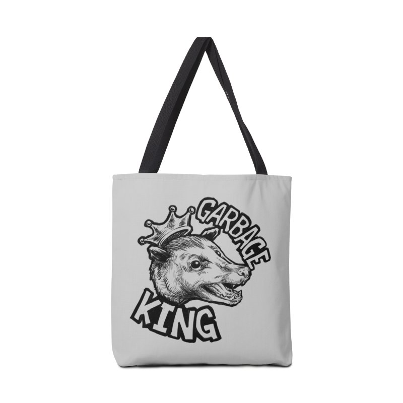 Garbage King (Black) Accessories Bag by Octophant's Artist Shop