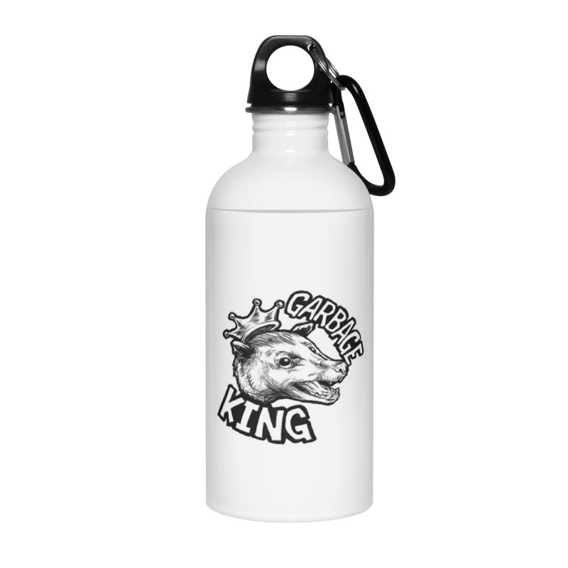 Garbage King (Black) Accessories Water Bottle by Octophant's Artist Shop