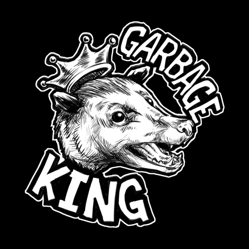 Garbage King (White) by Octophant's Artist Shop