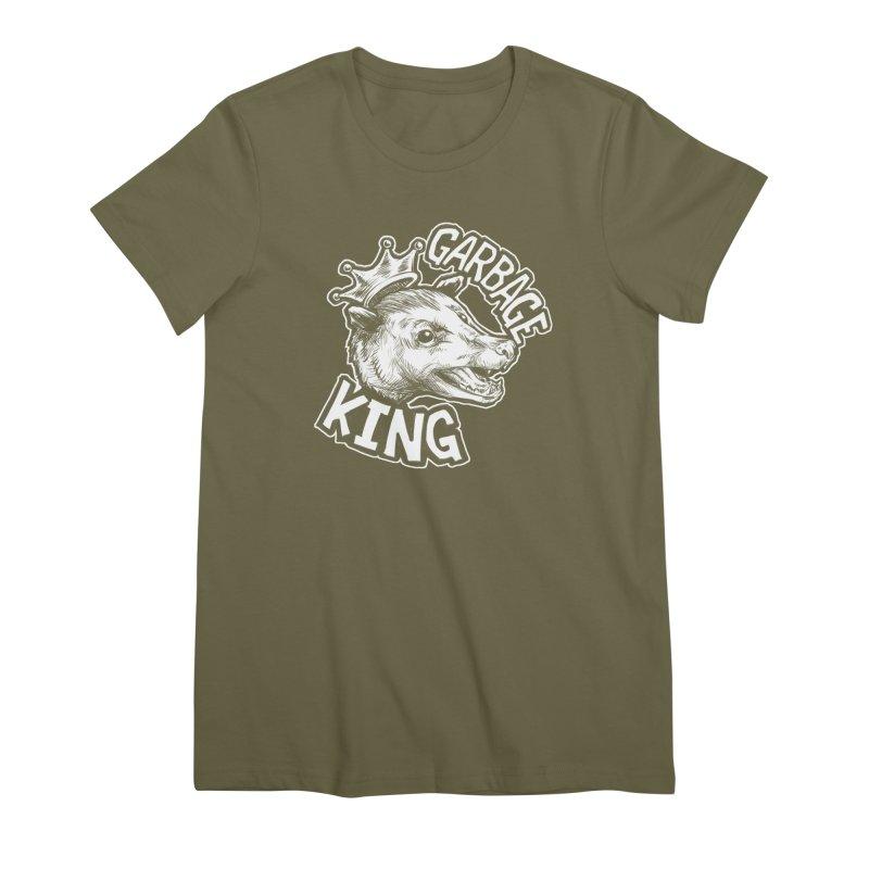 Garbage King (White) Women's Premium T-Shirt by Octophant's Artist Shop