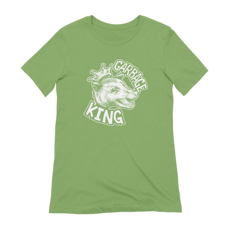 Garbage King (White) Women's Extra Soft T-Shirt by Octophant's Artist Shop